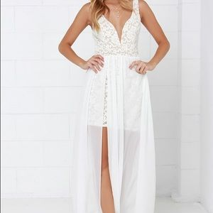 Make Way for Wonderful Lace Maxi Dress Lulus